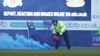 Flare on the pitch