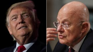 Composite image of Donald Trump and James Clapper