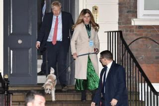 Boris Johnson, Carrie Symonds and their dog