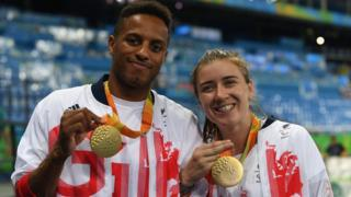 Libby Clegg and guide Chris Clarke