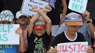 Asylum seeker children on Nauru