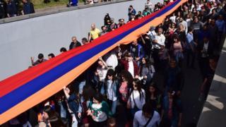 День памяти жертв геноцида - шествие в Ереване
