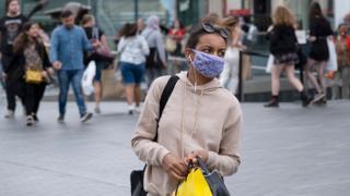 Woman in a mask in Birmingham