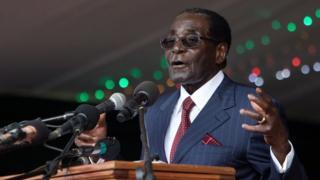 Президент Зимбабве 92-летний Роберт Мугабе