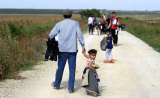 Migrants from Syria, Pakistan and Afghanistan arrive in Croatia, 16 September