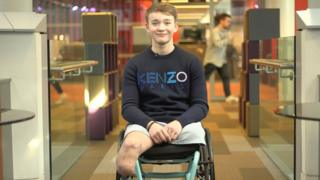 Billy Monger in his wheelchair looking at the camera