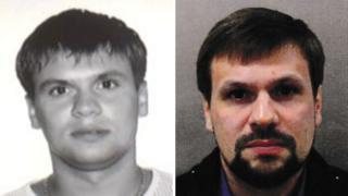 아나톨리 체피가의 2003년 사진(왼쪽)과 영국 경찰이 공개한 용의자 루슬란 보시로프의 사진
