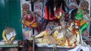 নাসিরনগরে এমন বহু দেব-দেবীর মূর্তি ভাংচুরের শিকার হয়েছে ওই হামলায়