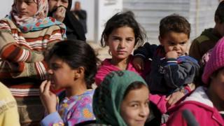 Ürdün'deki bir göçmen kampındaki Suriyeliler