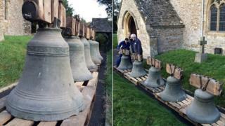 17th Century bells at All Saints Church in Liddington