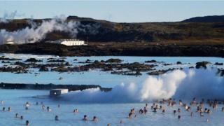 Lagoa Azul, na Islândia