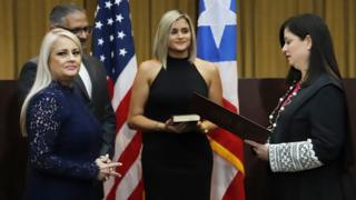 Wanda Vázquez is sworn in as governor. 7 Aug 2019