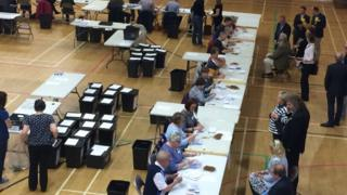 Election count in Northallerton