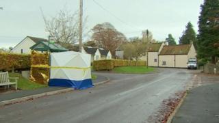 Wookey bus shelter where man's body was found on Sunday, 8 November