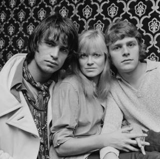 Oliver Tobias, English actress Annabel Leventon, and English actor and singer Paul Nicholas, three of the original London cast of Hair, UK, 16th September 1968