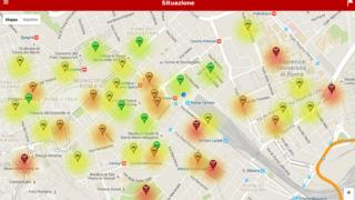 The heat map created by the app
