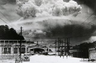 60th Anniversary Of The Atomic Bomb Of Nagasaki: A photograph of the atomic bomb dropped in Nagasaki shows how it exploded 50m above ground on August 8, 2005 in Nagsaki, Japan.