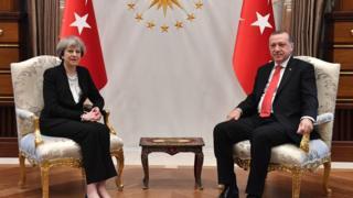 Прем'єр-міністр Британії Тереза Мей із президентом Туреччини Реджепом Таїпом Ердоганом
