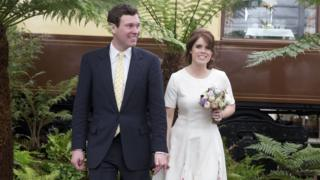 Jack Brooksbank and Princess Eugenie at the Chelsea Flower Show in May 2016