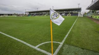 The pitch at Forest Green Rovers