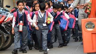 Hindistan'da okul çocukları