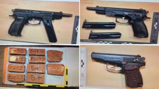 Guns and drugs seized by the National Crime Agency