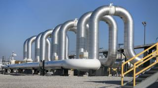 Large industrial piping