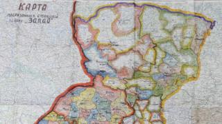 "Карта проведения операции ""Запад"""