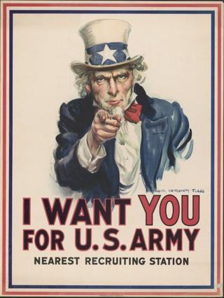 El póster del Tío Sam que cumple 100 años este mes.