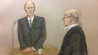 Court drawing of Stephen Port
