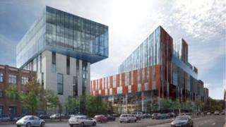 Artist's impression of the new campus