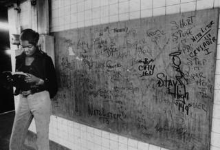 US subway graffiti, 1972