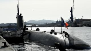French submarine in Toulon (file pic)