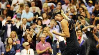 Đây là Grand Slam đầu tiên của tay vợt nữ 30 tuổi người Nga kể từ khi bị đình chỉ 15 tháng thi đấu do doping.