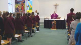 Mass at St. Ninian's High School, Giffnock