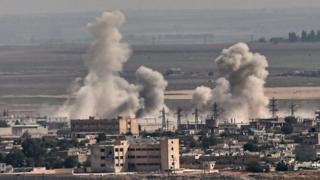 راس العین (سریکانی) از زمان آغاز عملیات ارتش ترکیه به شدت بمباران شده است