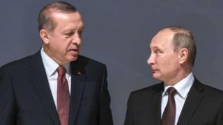 Perezida Erdogan wa Turikiya (ibumoso) na Perezida Putin w'Uburusiya nibo bahagarariye ayo masezerano.