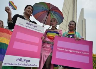 ขบวนพาเหรดรณรงค์ของผู้มีความหลากหลายทางเพศ เพื่อสนับสนุนกฏหมายแต่งงานของผู้มีความหลากหลายทางเพศ ในปี 2015