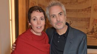 Olivia Colman and Alfonso Cuaron