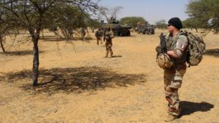Des éléments français de l'opération Barkhane dans le centre du Mali.