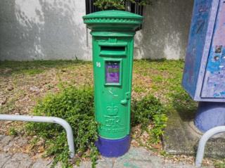 Picture of a colonial-era Hong Kong post box