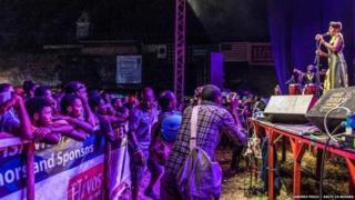 People attending Zanzibar festival