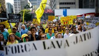 Manifestação na Evenida Paulista em São Paulo