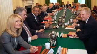 Boris Johnson's cabinet meet for the first time