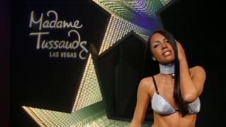 Aaliyah's wax work in the Las Vegas Madame Tussauds.