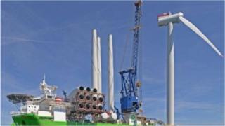 North Sea wind power