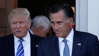 Trump na Romney hawakuzungumza lolote baada ya mkutano wao uliofanyika New Jersey