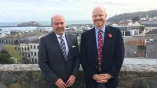Costa Rican ambassador and Guernsey's chief minister