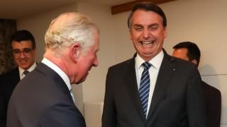 Bolsonaro cita 'interesse' em 'interferência na Amazônia' após encontro com príncipe Charles