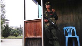 မုန်လ ကင်းစခန်းမှာ တွေ့ရတဲ့ MNDAA တပ်ဖွဲ့ဝင် တစ်ဉီး